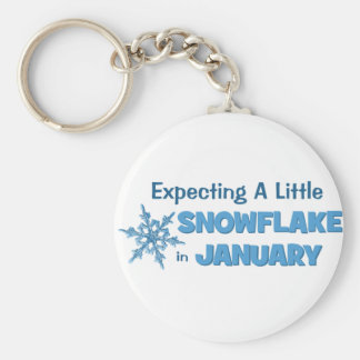 Expecting A Little Snowflake in January Maternity Keychain