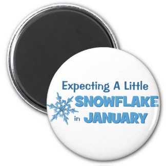 Expecting A Little Snowflake in January Maternity Magnet
