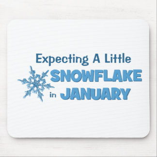 Expecting A Little Snowflake in January Maternity Mouse Pad