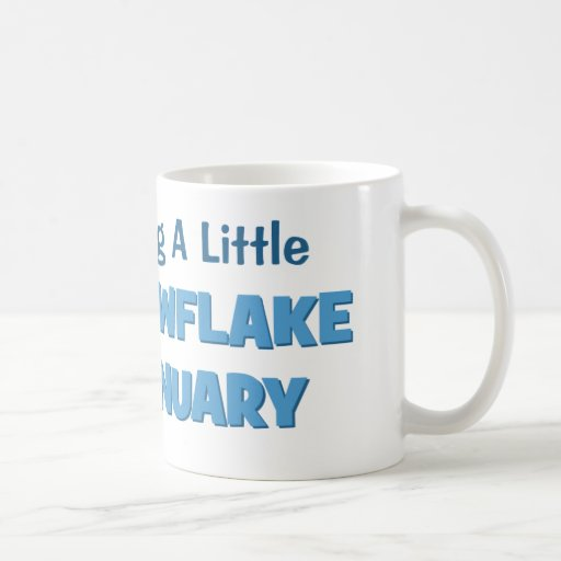 Expecting A Little Snowflake in January Maternity Classic White Coffee Mug
