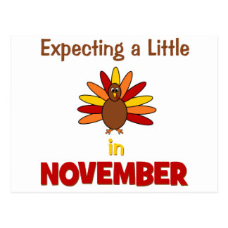 Expecting A Little Turkey in November Postcards