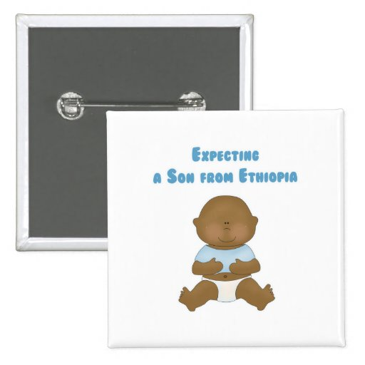 Expecting a Son from Ethiopia 2 Inch Square Button