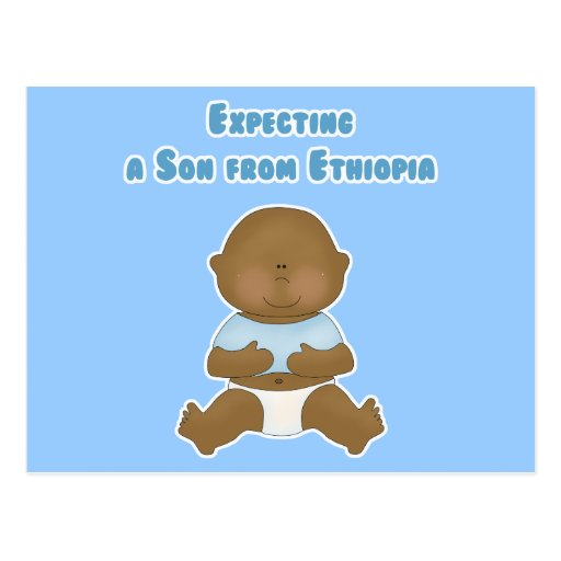 Expecting a Son from Ethiopia Postcard