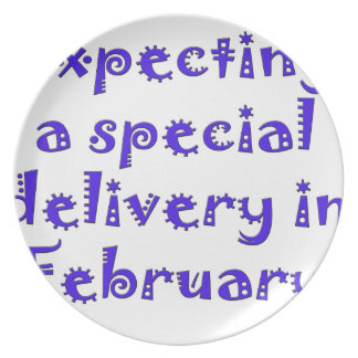 expecting a special delivery in february.png dinner plate