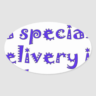 expecting a special delivery in february.png oval sticker