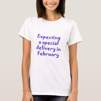 expecting a special delivery in february.png T-Shirt