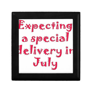 Expecting a special delivery in july keepsake box