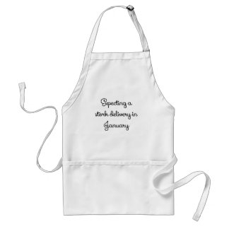Expecting a stork delivery in January.png Adult Apron