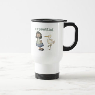 Expecting - African American Mom to Be and Stork Coffee Mugs