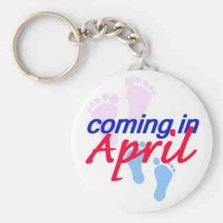Expecting April Keychain