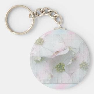 Expecting Baby Eastern Flowering Dogwood Basic Round Button Keychain