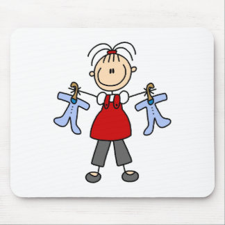 Expecting Baby Stick Figure Mousepad