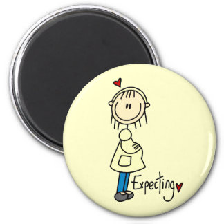 Expecting Baby T-shirts and Gifts 2 Inch Round Magnet