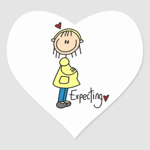Expecting Baby T-shirts and Gifts Heart Sticker