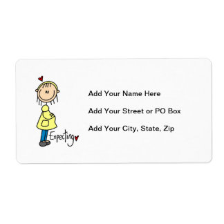 Expecting Baby T-shirts and Gifts Custom Shipping Label