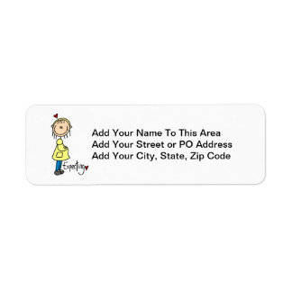 Expecting Baby T-shirts and Gifts Custom Return Address Label