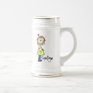 Expecting Baby T-shirts and Gifts 18 Oz Beer Stein