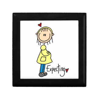 Expecting Baby T-shirts and Gifts Trinket Box