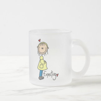 Expecting Baby Tshirts and Gifts Frosted Glass Coffee Mug