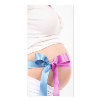 Expecting Boy or Girl--Pregnant Belly note card