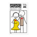 Expecting Couple Gender-Neutral Postage Stamps