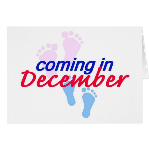 Expecting DECEMBER Card
