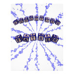 Expecting father toy blocks in blue custom letterhead
