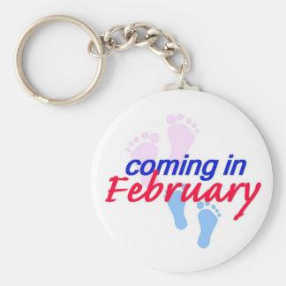 Expecting FEBRUARY Keychain