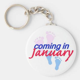 Expecting JANUARY Keychain