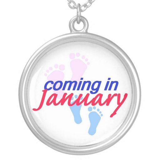 Expecting JANUARY Necklace