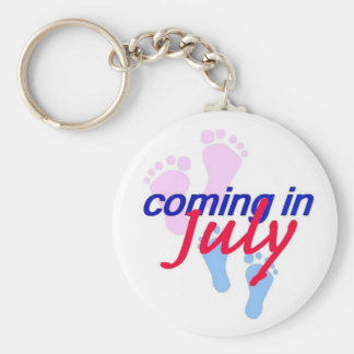Expecting JULY Keychain