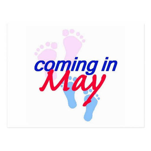 Expecting MAY Postcard