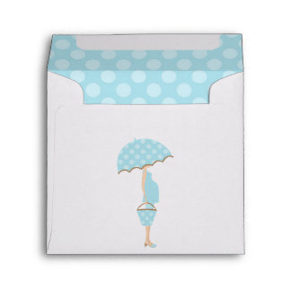 Expecting Mom Boy Baby Shower Envelope