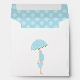 Expecting Mom Boy Baby Shower Envelope