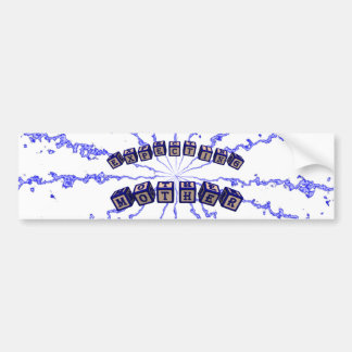 Expecting mother toy blocks in blue bumper sticker