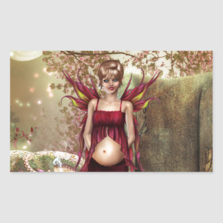 Expecting Motherhood Rectangle Stickers