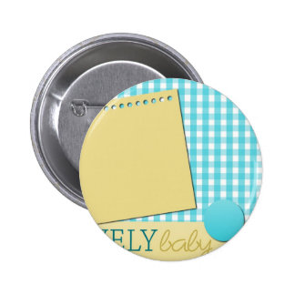 expecting nursery crib pregnancy infant maternity 2 inch round button