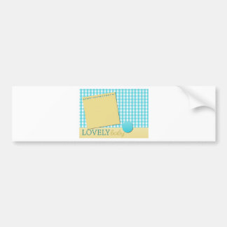 expecting nursery crib pregnancy infant maternity bumper sticker
