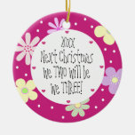 Expecting Our 1st Baby and It's a Girl-Christmas Double-Sided Ceramic Round Christmas Ornament