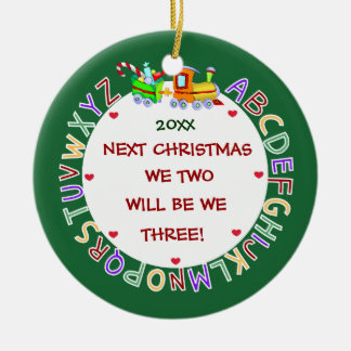 Expecting Our 1st Baby-Christmas Ceramic Ornament
