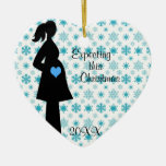 Expecting This Christmas Pregnancy Heart Ornament