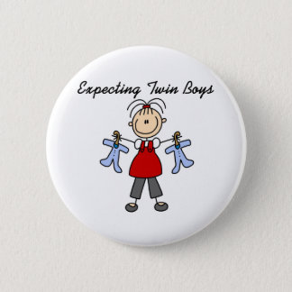 Expecting Twin Boys  Button