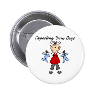 Expecting Twin Boys  Buttons