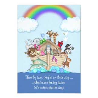 Expecting Twins Baby Shower Invitation   Noahu0027s Ar