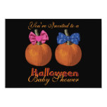 Expecting Twins Halloween Baby Shower Invitations