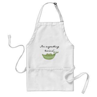 Expecting Twins - Peas in a Pod Adult Apron