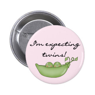 Expecting Twins - Peas in a Pod Pinback Button