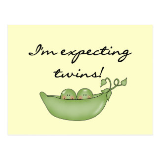 Expecting Twins - Peas in a Pod Postcard