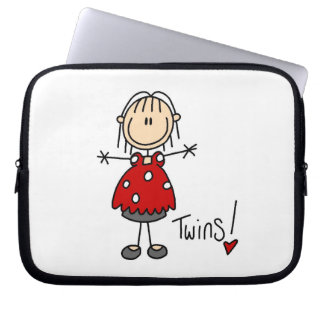 Expecting Twins T-shirts and Gifts Laptop Computer Sleeves