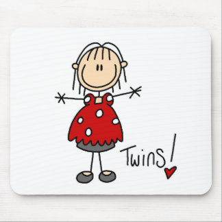 Expecting Twins T-shirts and Gifts Mouse Pad